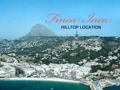 Finca Inca Hilltop Location