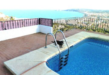 Pool view villa Javea Spain